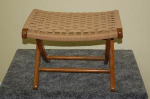 Danish Cord Weave Footstool After