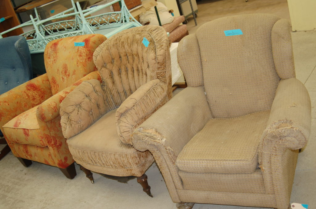 Chairs to be reupholstered